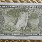 Canada 20 dollars 1937 pk.62c reverso