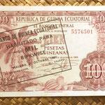 Guinea Ecuatorial 1000 bipkwele 1980 sobre 100 pesetas 1969 anverso
