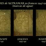 Colonias francesas de Ultramar 50 francos Belain d'Esnambuc 1947-1960 marcas de agua