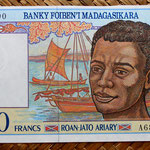 Madagascar 1000 francos - 200 ariary 1994 (138x72mm) pk.76 anverso