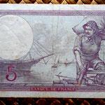Francia 5 francos 1933 pk. 72e reverso