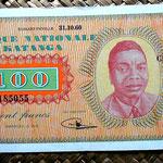 Katanga 100 francos 1960 anverso