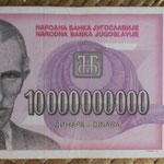 Yugoslavia 10.000.000.000 dinares 1993 (164x78mm) pk.127 anverso
