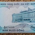Vietnam del Sur 50 dong 1972 (142x70mm) pk.30a anverso