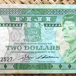Islas Fiji 2 dollars 1983 (156x67mm) pk.82a anverso