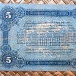 Rusia Odessa 5 rublos 1917 (144x80) reverso