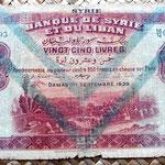 Siria y Líbano 25 libras 1939 anverso