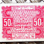 Marruecos Empire Cherifien 50 ctmos. 1944 42x32mm) anverso