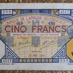 French West Africa -Dakar 5 francos 1929 anverso
