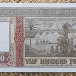 Belgica 500 francos 1945 (170x90mm) pk.130 reverso