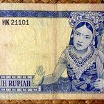 Indonesia 50 rupias 1960 pk.85a reverso