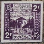 Empire Cherifien Protectorado francés 2 francos 1944 pk.43 reverso