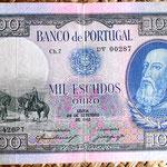 Portugal 1000 escudos 1942 anverso