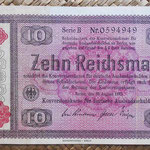 Alemania bono 10 Reichsmark -jewish notes- 1933-resello 1934 (190x110mm) pk.208 anverso