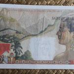 San Pedro y Miguelón 100 francos 1963 resellado 2 NF pk.32 reverso