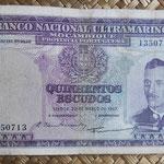 Mozambique 500 escudos 1967 pk. 109 anverso
