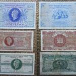 Francia serie francos Marianne de E. Dulac 1943-45 anversos y reversos