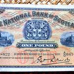 Escocia 1 libra 1939 Edimburgo anverso