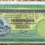 Palestina 1 pound 1939 anverso