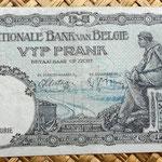 Bélgica 5 francos 1938 reverso