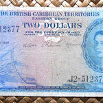 British Caribbean Territories 2 dollars 1954 anverso
