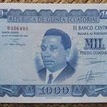 Guinea Ecuatorial 1000 pesetas 1969 (157x104mm) pk.3 anverso