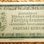 Bohemia y Moravia 50 coronas 1940 Specimen reverso