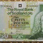 Escocia 50 pounds 2005 (155x85mm) pk.367 anverso