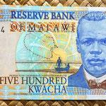 Malawi 500 kwacha 2001 anverso