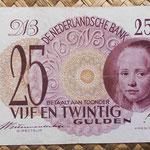 Holanda 25 gulden 1945 (132x82mm) pk.77 anverso
