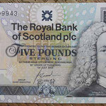 Escocia 5 pounds 2005 Royal Bank Conmemorativo RCS (135x72mm) pk.364 anverso