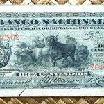 Uruguay 10 centésimos de peso 1887 anverso