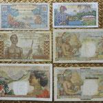 San Pedro y Miguelón serie francos 1950-1960 -Ilustres en Ultramar- reversos