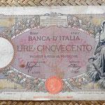 Italia 500 liras 1941 anverso