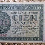 España 100 pesetas 1936 (160x85mm) pk.101 capicúa anverso