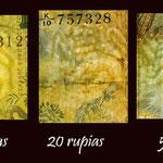 Sri Lanka serie billetes 1979 marcas de agua