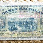 Uruguay 1 peso 1887 resello Rosario anverso