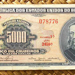 Brasil 5000 cruzeiros resellados 5 cruzeiros novos 1966 anverso