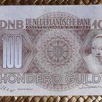Holanda 100 gulden 1947 (153x81mm) pk.82 anverso