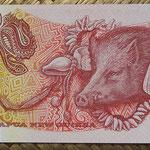 Papua Nueva Guinea 20 kinas 1981 (150x75mm) pk.10a reverso