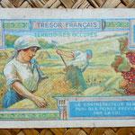 Francia 10 francos Territorios Ocupados -Tresor Francais 1947 reverso