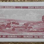 Canada 2 dollars 1954 pk.76b reverso