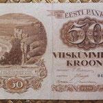 Estonia 50 krooni 1929 (156x98mm) pk.65 anverso