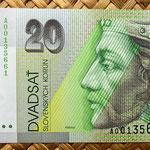 Eslovaquia 20 korun 1993 Conm.BiMilenium anverso