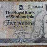 Escocia 5 pounds 1997 Royal Bank (135x72mm) pk.352b anverso