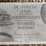 Indias Orientales Holandesas 100 gulden 1946 (148x74mm) pk.94 anverso