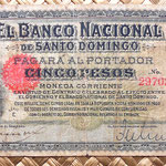 Republica Dominicana 5 pesos 1889 anverso