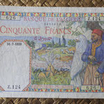 Argelia 50 francos 1939 (145x92mm) pk.84 anverso