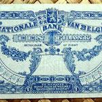 Bélgica 1 franco 1920 reverso