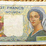 Nueva Caledonia 20 francos 1951 reverso